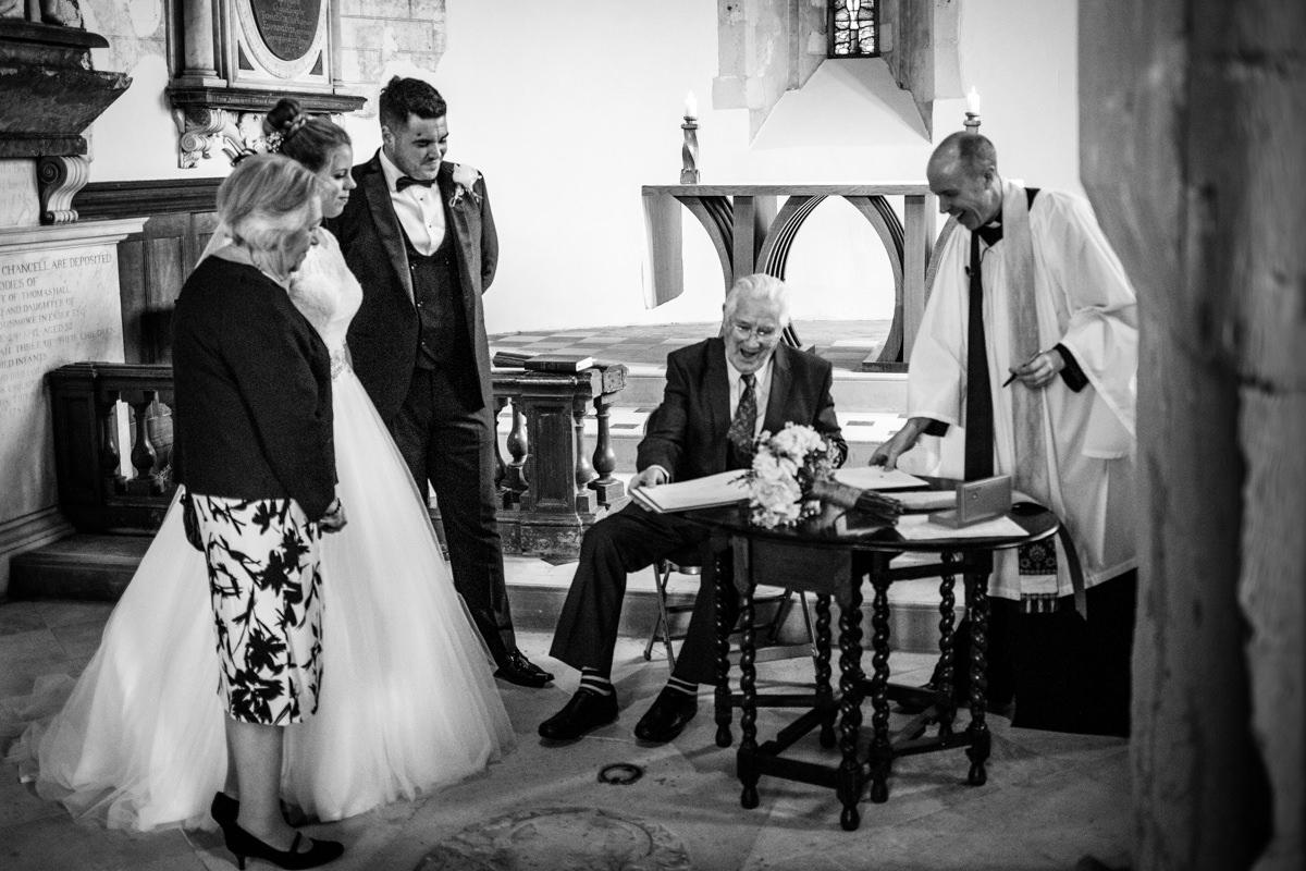 0019 Herfordshire wedding photographer Bengeo st Leonard wedding