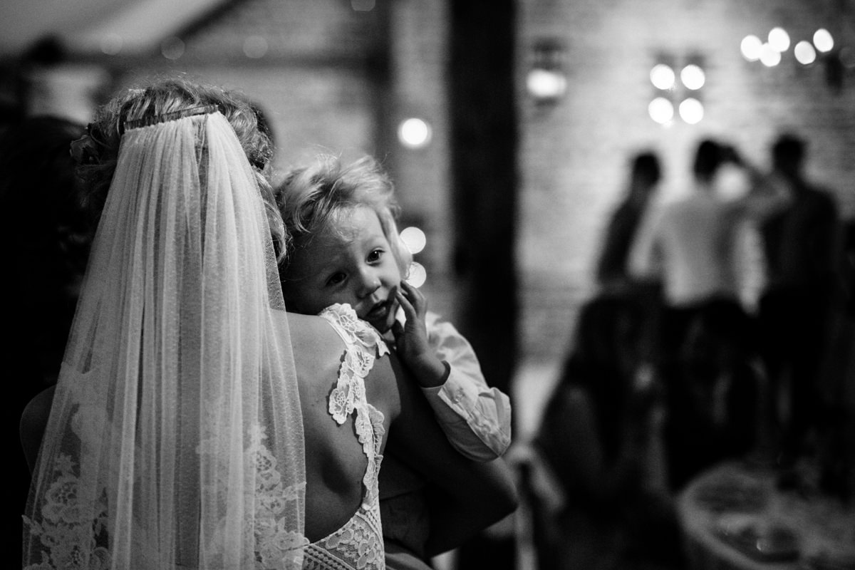 0004 Upwaltham Barns wedding child Michael Stanton Photography
