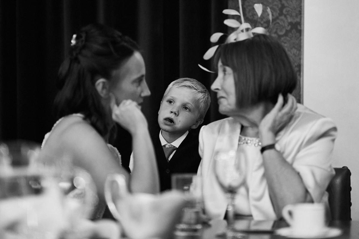 Funny wedding photo of a bored boy at RMA Sandhurst