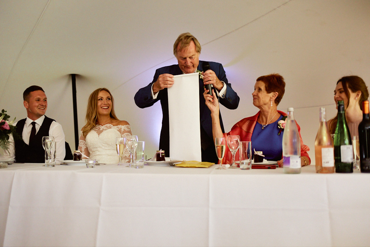 Funny wedding photo of a father of the bride speech